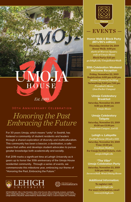 Umoja 30th List of Events